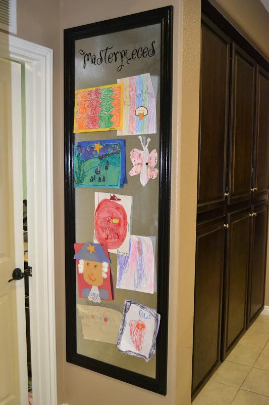 display kids artwork - image via inspiration organization
