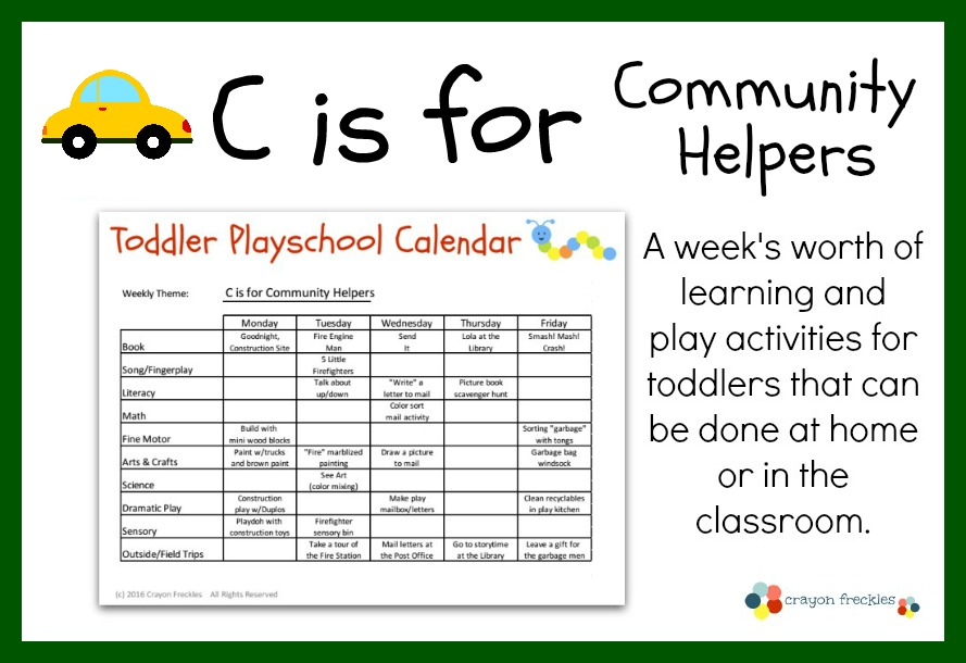 ... Playschool: C is for Community Helpers Lesson Plan {free printable
