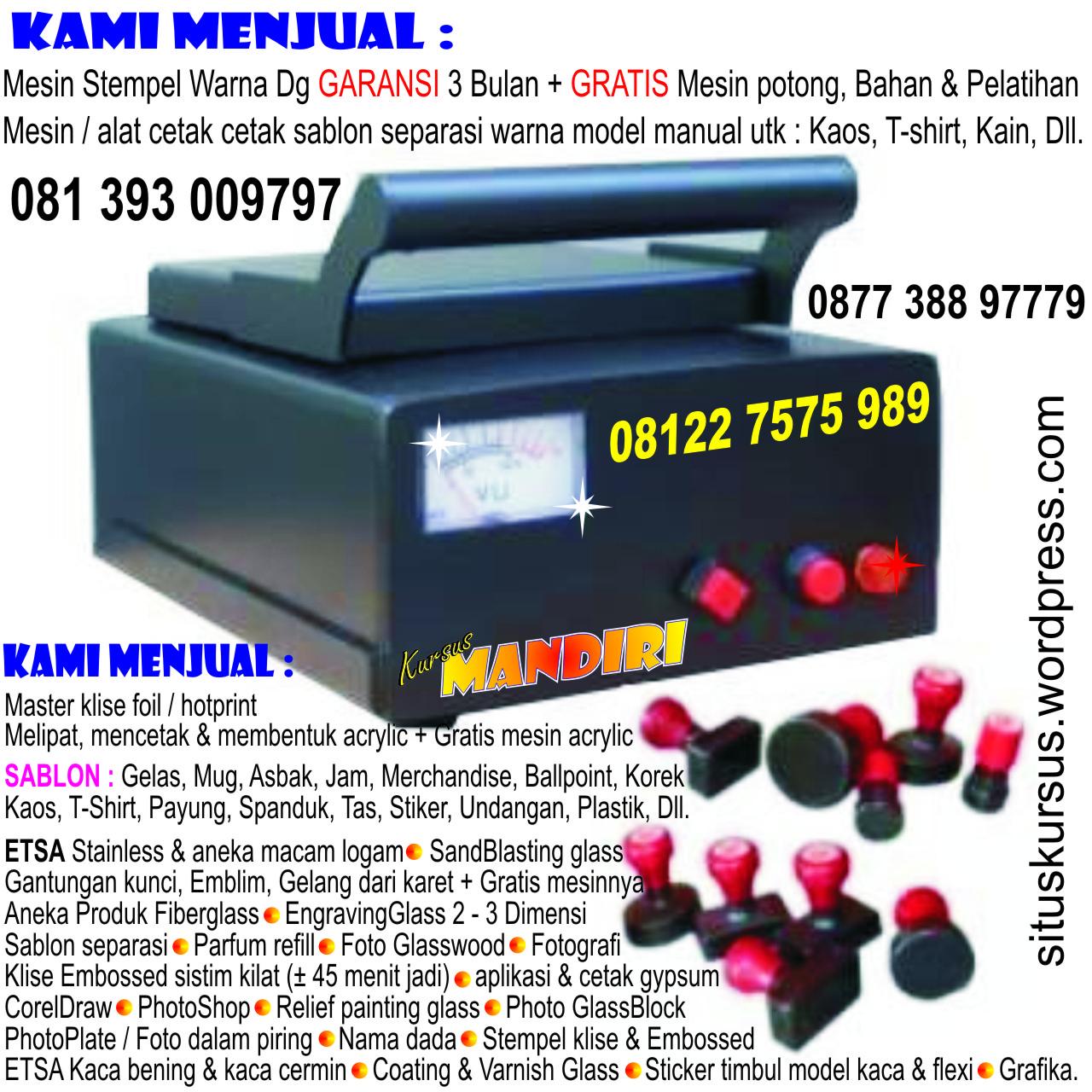 Kursus  Plakat Acrylic  Fiber, Sablon Gelas  Mug -2265
