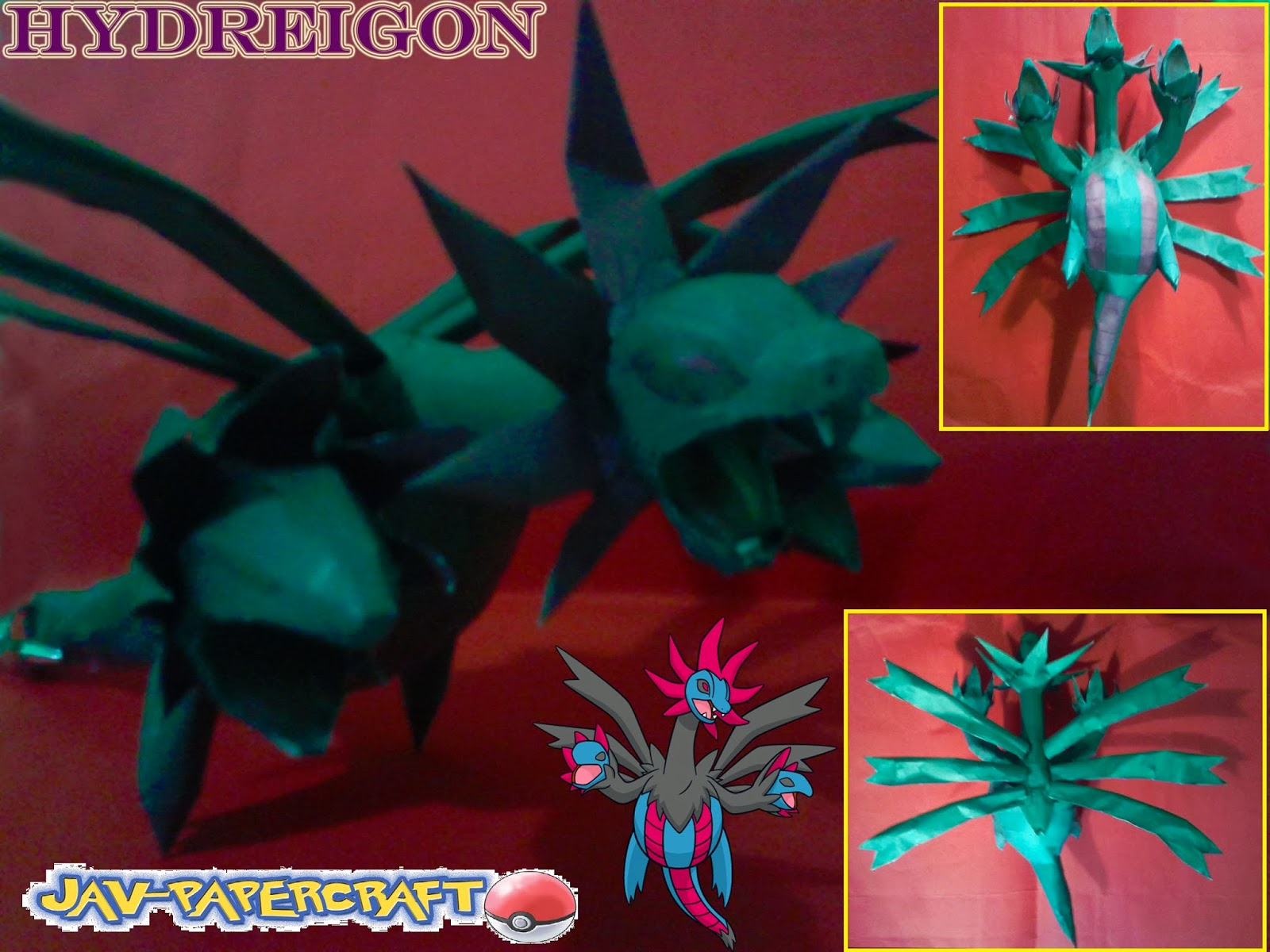 Pokemon Hydreigon Papercraft