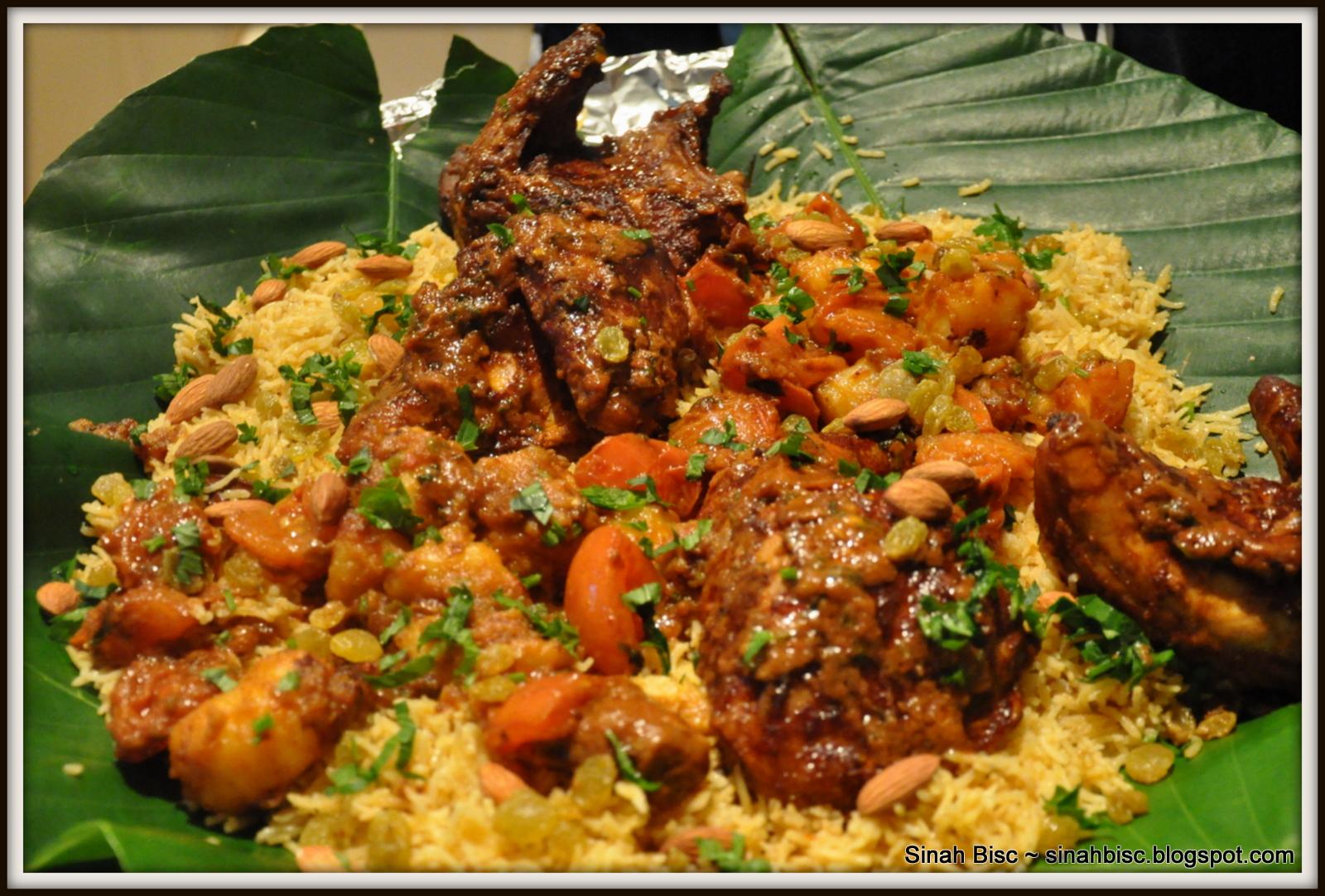 Sinah Bisc: Nasi Briyani Masala Ayam Percik