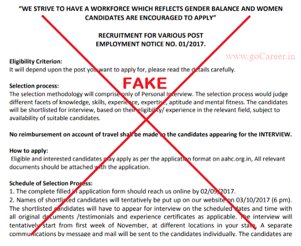 AAhc  fake requirement, So do not apply.