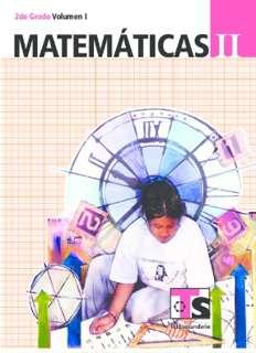 Libro de TelesecundariaMatemáticasIISegundo gradoVolumen ILibro para el Alumno2016-2017
