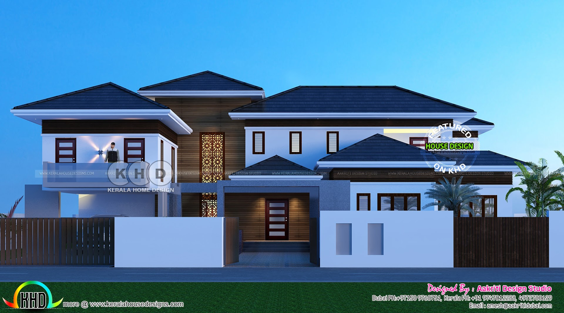 Grand Stylish Villa Architecture Design Kerala Home Design