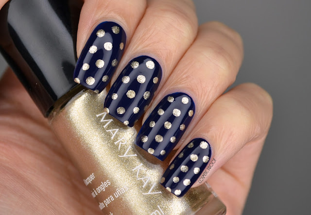 Mary Kay Gold Polka Dot Nail Art