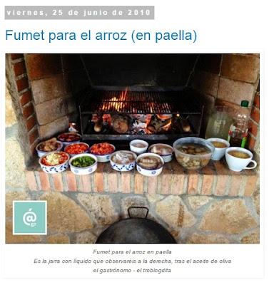 Fumet para el arroz en paella - Fumet - Recetas TOP10 de El Gastrónomo en marzo 2016 - Álvaro García - ÁlvaroGP - el troblogdita