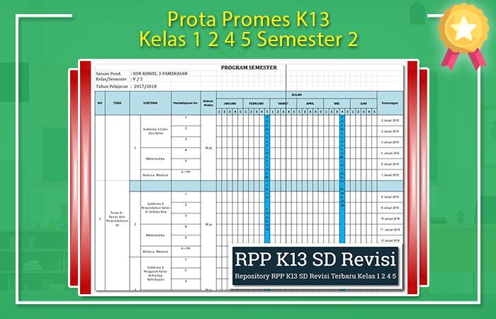 Promes K13 Kelas 5 Semester 2