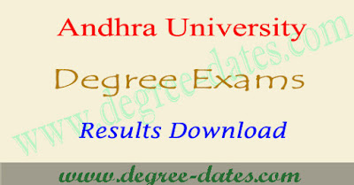 AU degree results 2018 Andhra university ug result date