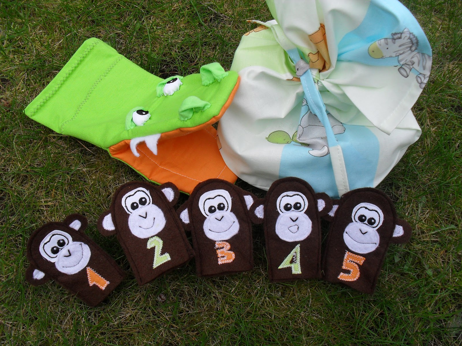 Custom Golf Headcovers And Puppets Five Little Monkeys