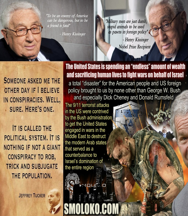 Activism, Zionism, Corruption, FED, Federal Reserve, Quotes, Henry, Kissinger, Jeffrey, Tucker