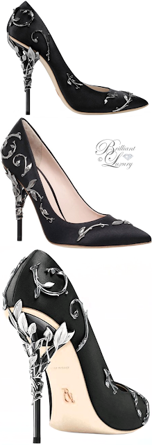 Ralph & Russo black Eden Eve pump #brilliantluxury