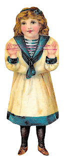paper doll victorian image sailor dress clipart image digital download