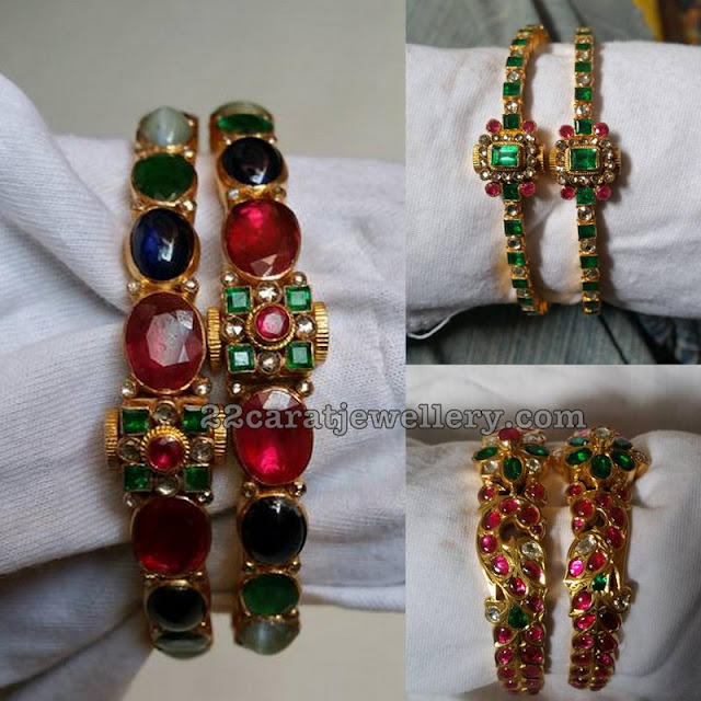 Colorful Latest Gemstone Bangles