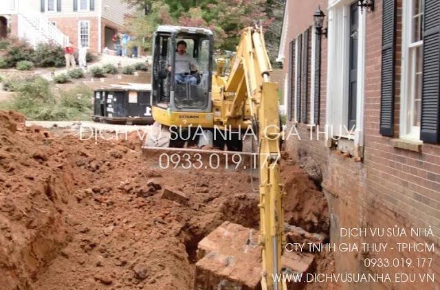 Hạng mục thi công đào móng nhà