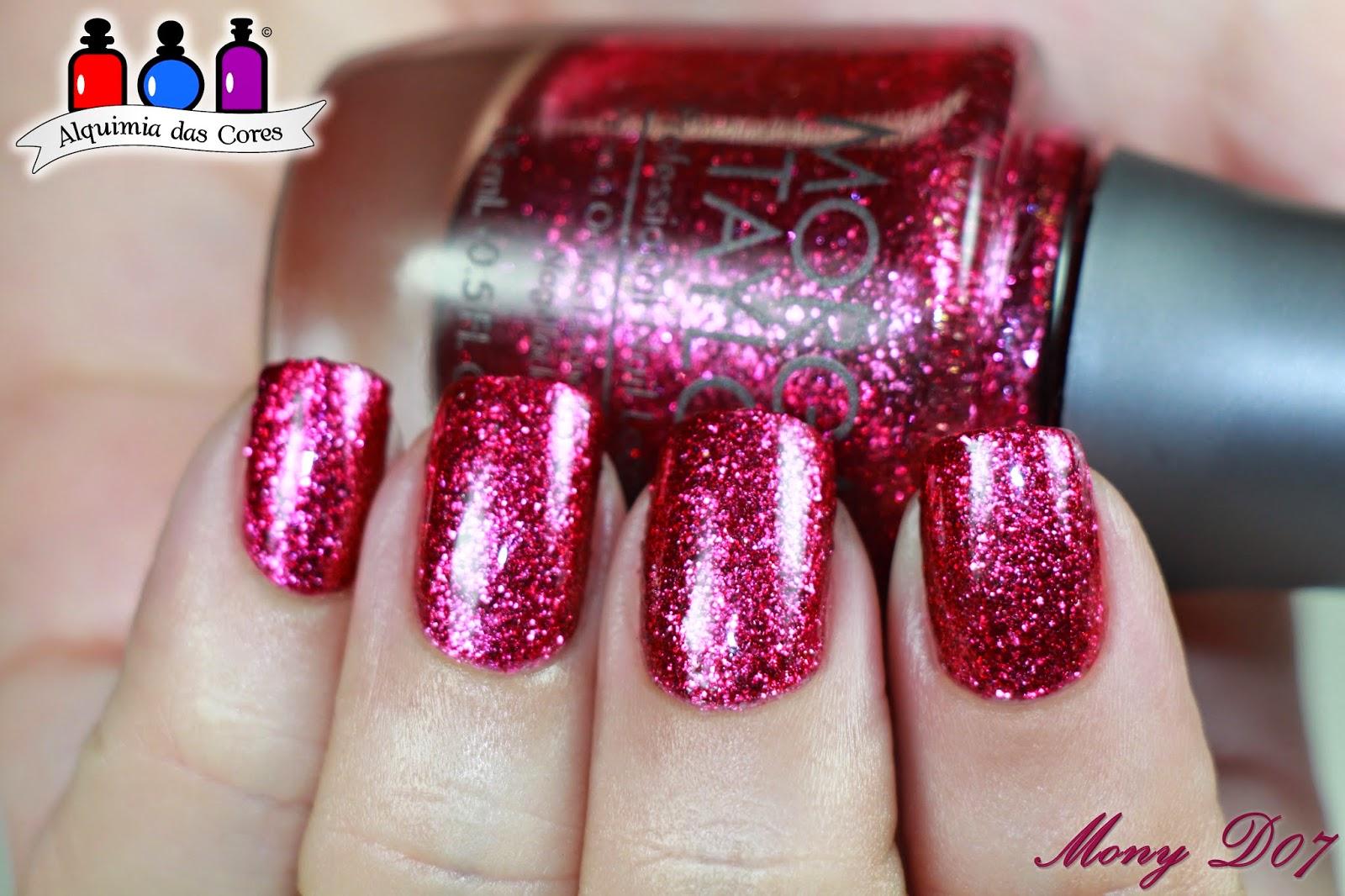 Morgan Taylor, J'adore My Mani, Microglitter, Magenta, MonyD07,