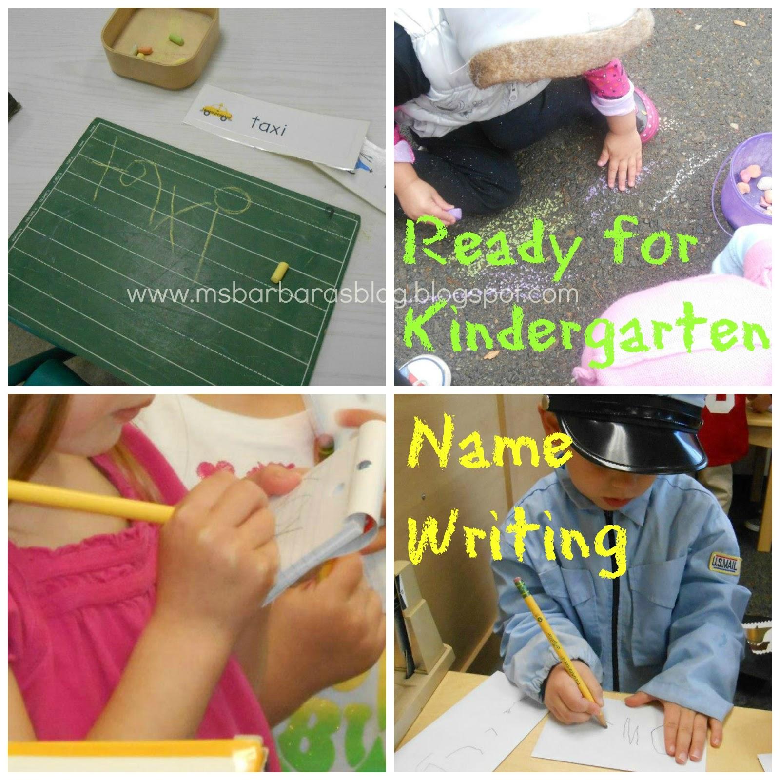 For The Children Ready For Kindergarten Name Writing