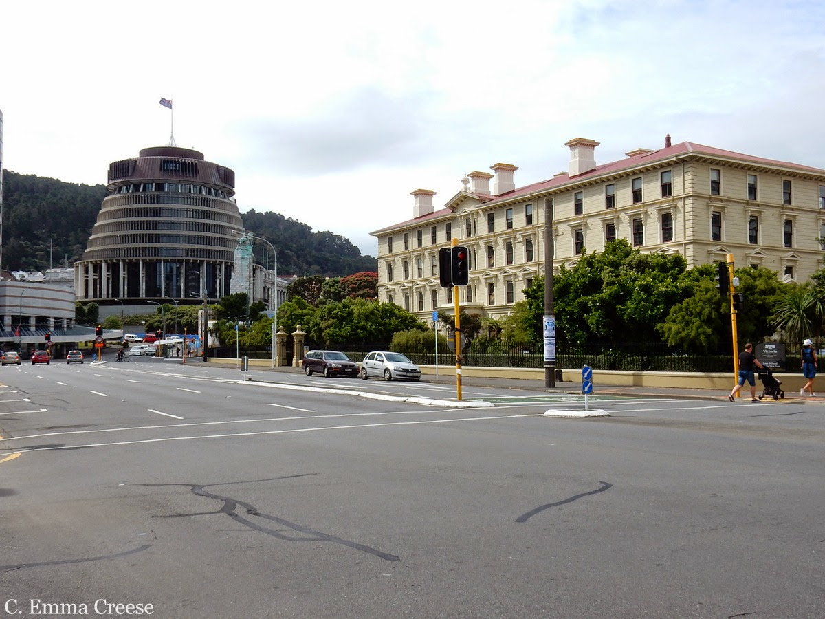 Wellington Parliament, the beehive, New Zealand - The siren call of home to a longterm expat