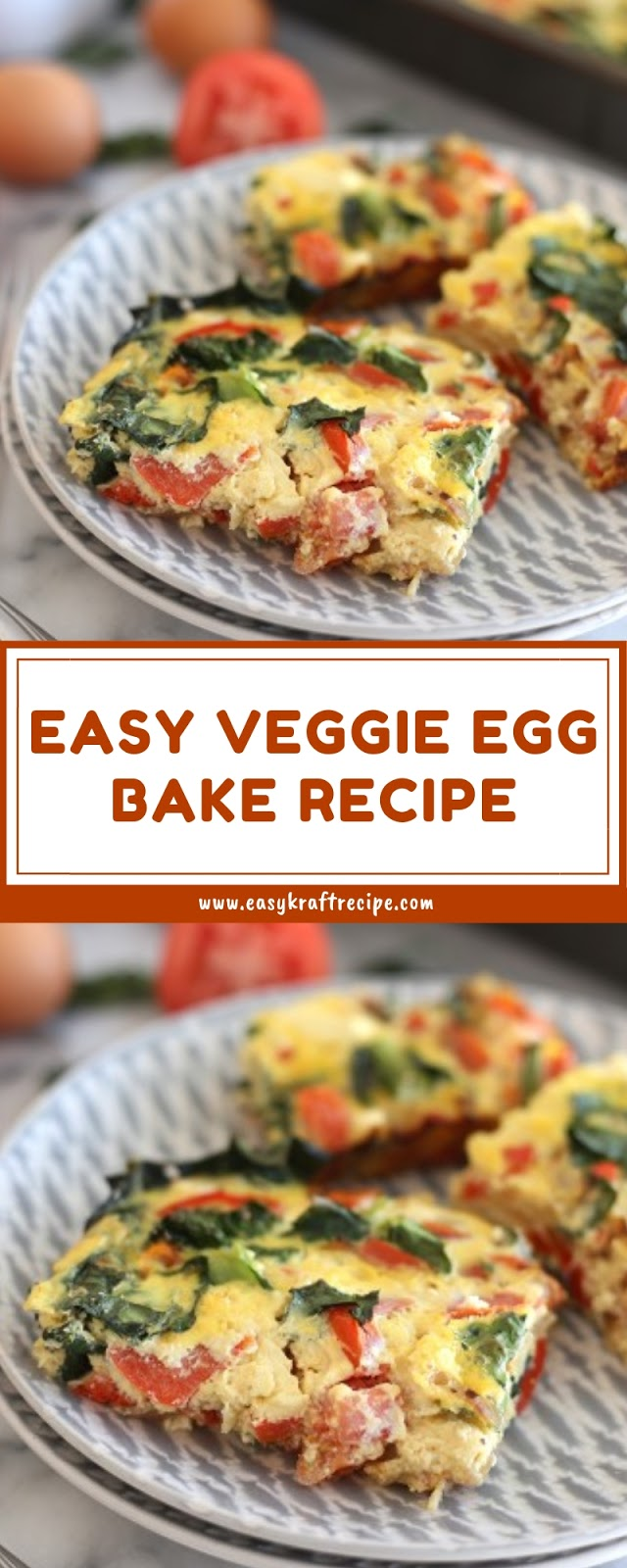 EASY VEGGIE EGG BAKE RECIPE