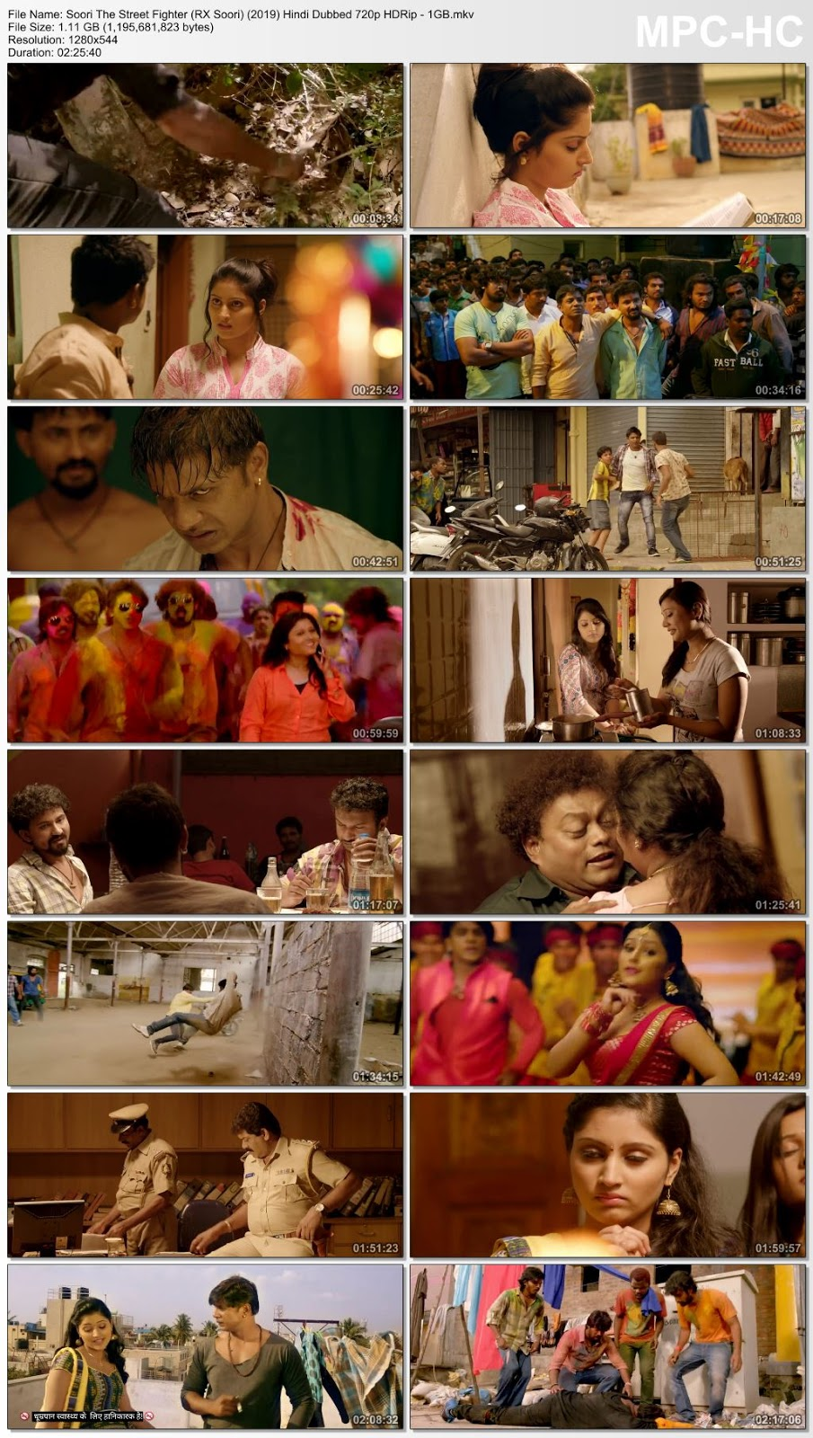 Soori The Street Fighter (RX Soori) (2019) Hindi Dubbed 480p HDRip – 400MB Desirehub