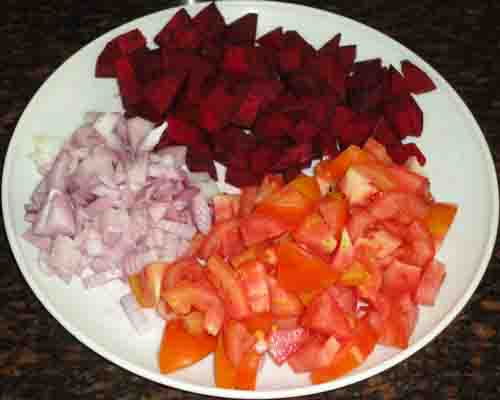 chopped tomato onion