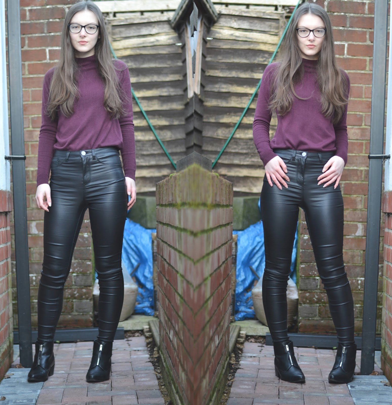 lunar look leather pants