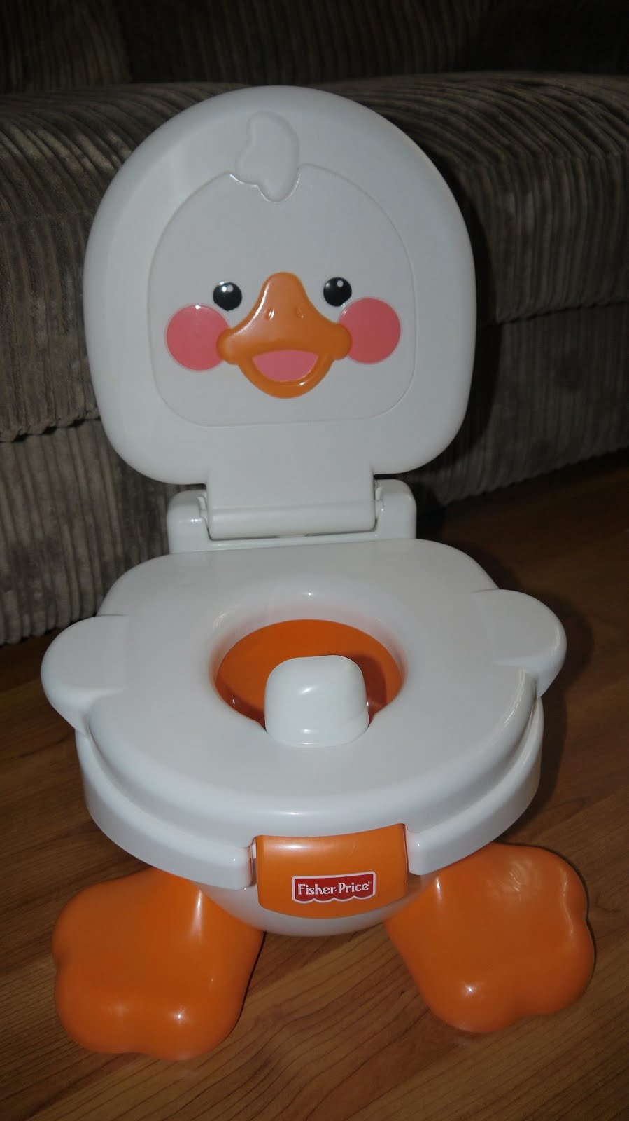 Fisher Price Duck Potty Chair Small Camp Inside The Wendy House Ducky Fun 3 In 1 For Comes With A Removable Easy Clean Bucket And Splash Guard Toilet Seat Part Also Can Be Removed Used As Trainer On Big So