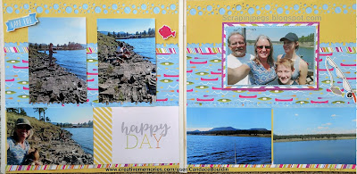 Creative Memories Slice of Summer 2 page spread using the NEW Dancing Daisies Border Maker Cartridge