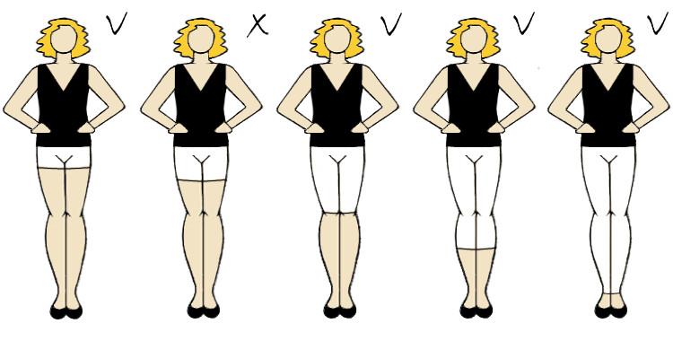fason spodni ukrywający brzuszek i wyszczuplający sylwetkę