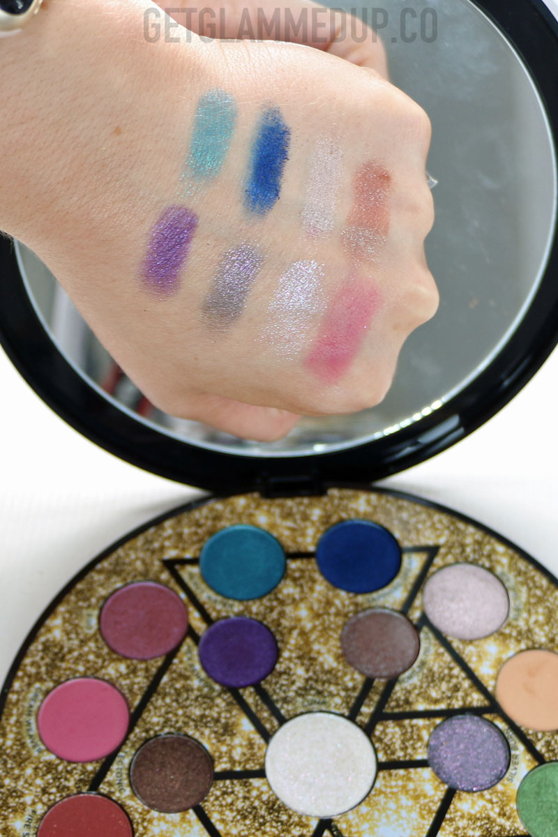 Urban Decay Elements Palette Swatches
