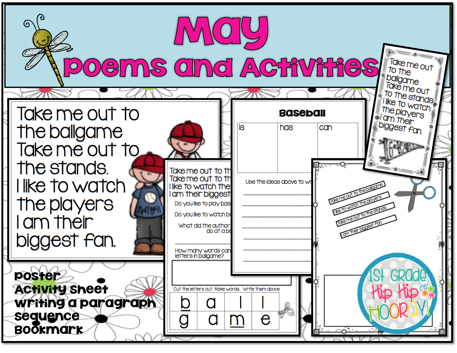 1st Grade Hip Hip Hooray May Poems And Activities