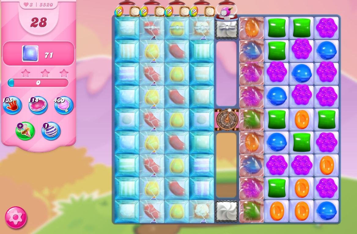 Candy Crush Saga level 5520