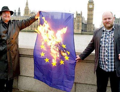 Burning the EU flag