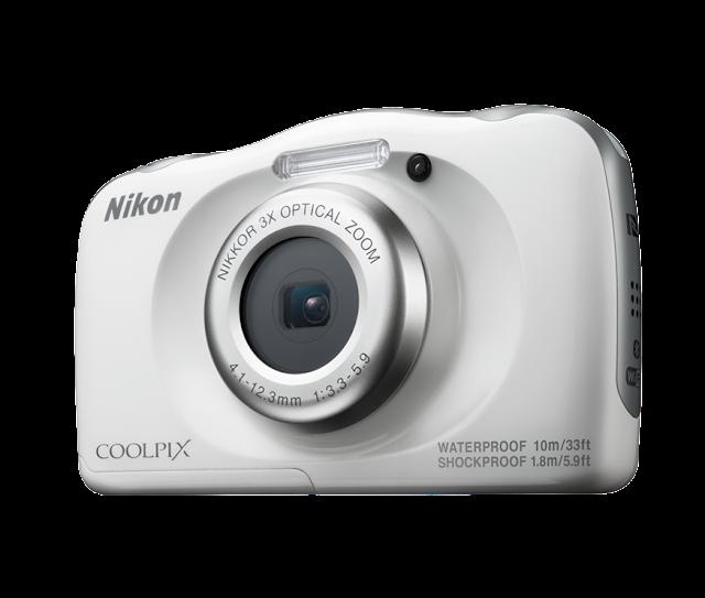 كاميرا نيكون Nikon Coolpix w100 بلون فضي