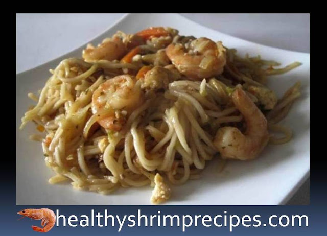 Healthy noodles with shrimps recipe