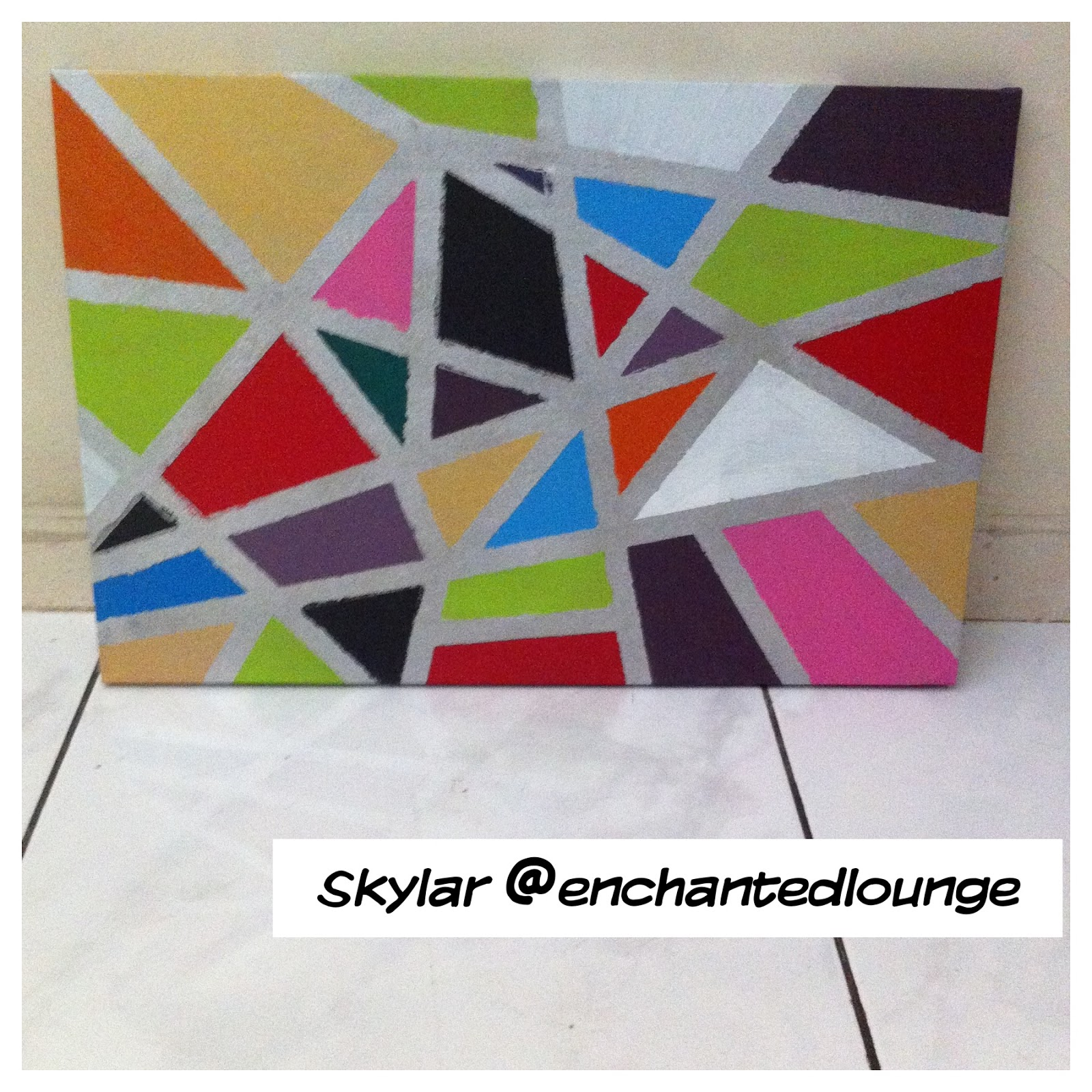 diy weekend project tutorial abstract wall art painting fienna