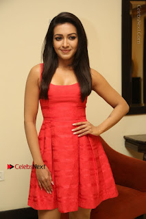 Actress Catherine Tresa Latest Pos in Red Short Dress at Intex Air Conditioners Launch  0027.jpg