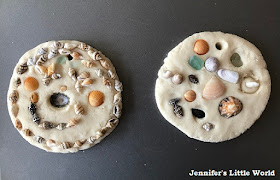 Salt dough ready for the oven