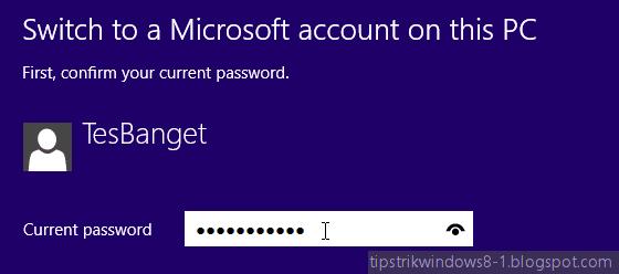 memasukkan password user lokal