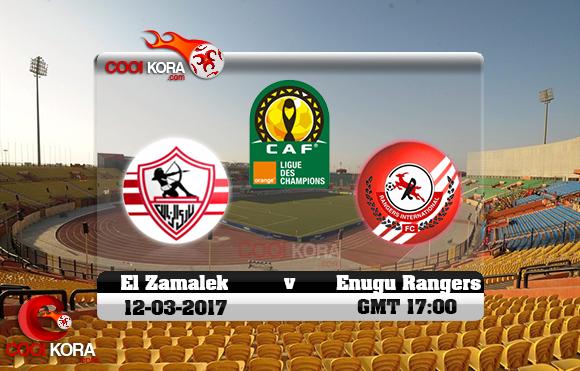 مشاهدة مباراة الزمالك و إينوجو رينجرز اليوم 12-3-2017 دوري أبطال أفريقيا