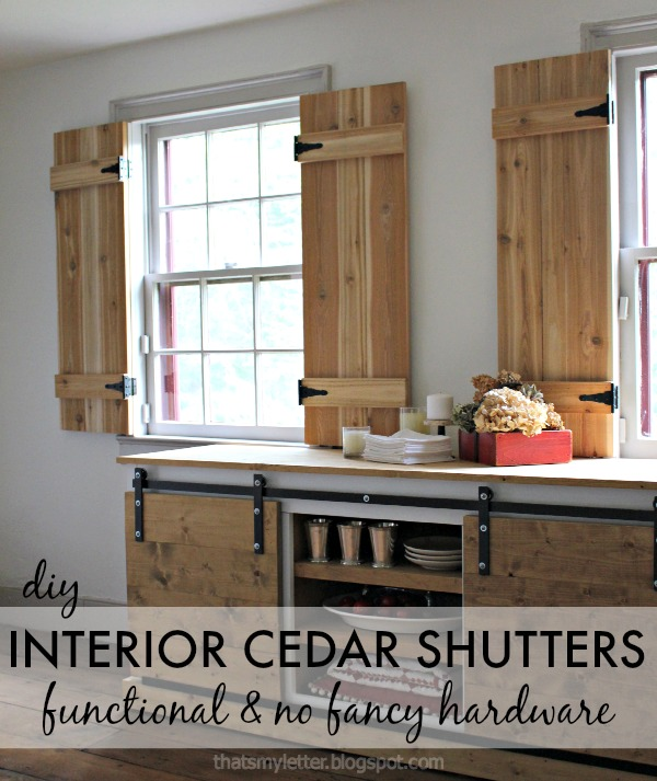 diy interior functional cedar shutters