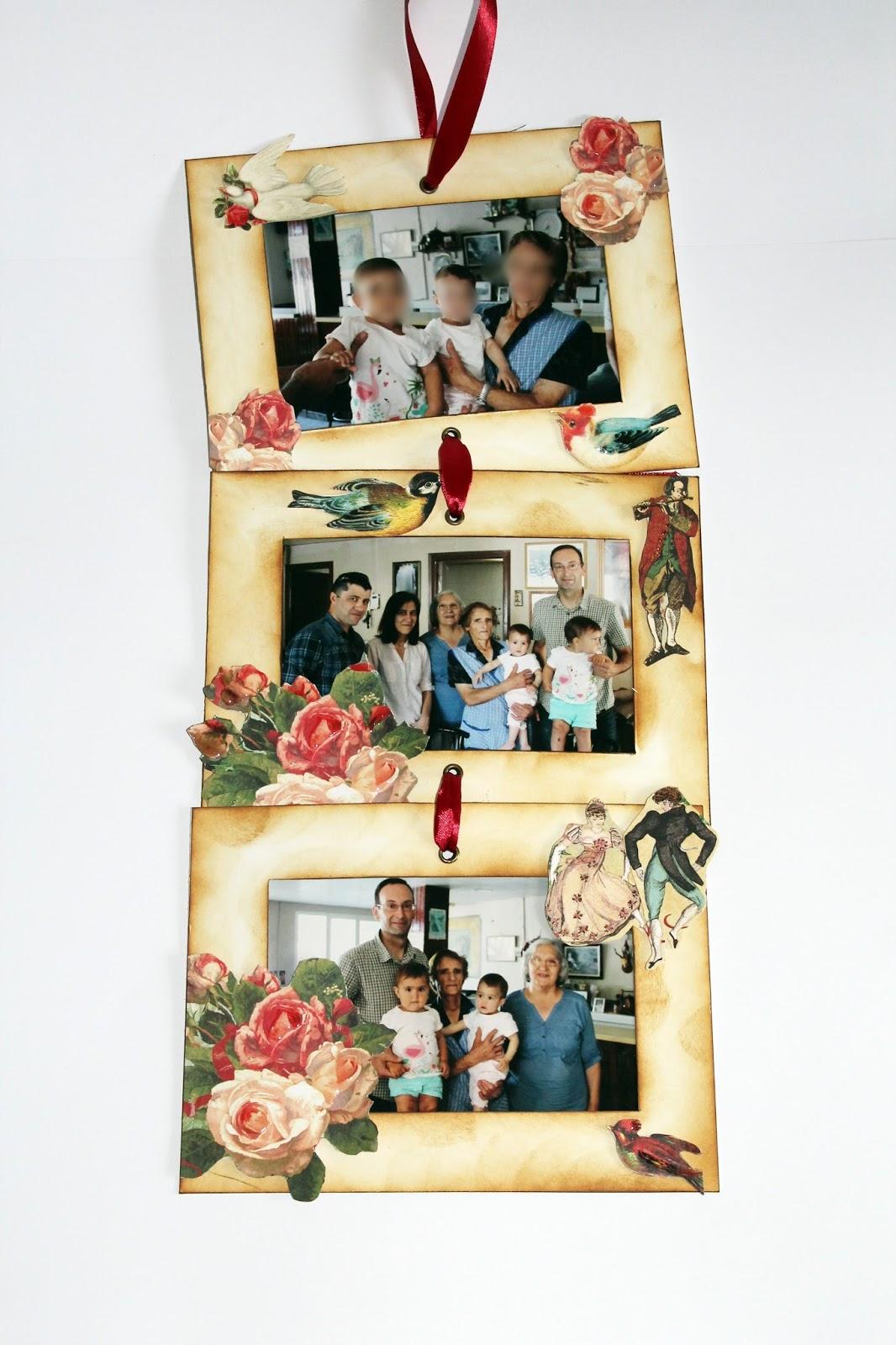 Magdalena de papel: Marco de fotos para un regalo