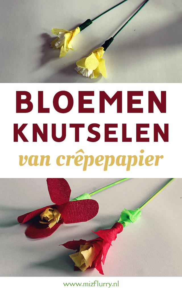 bloemen knutselen crepepapier