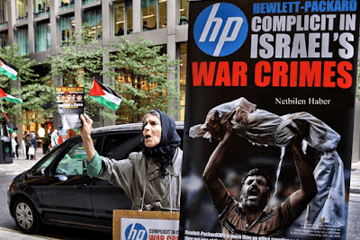 israil ürünü hp protesto