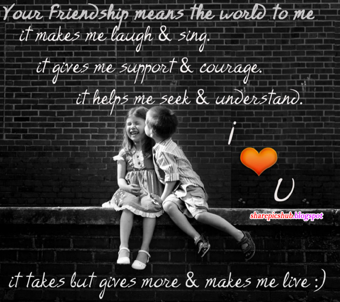 Kids Friendship Quotes: Beautiful Friendship Quote Cute Kids Wallpaper