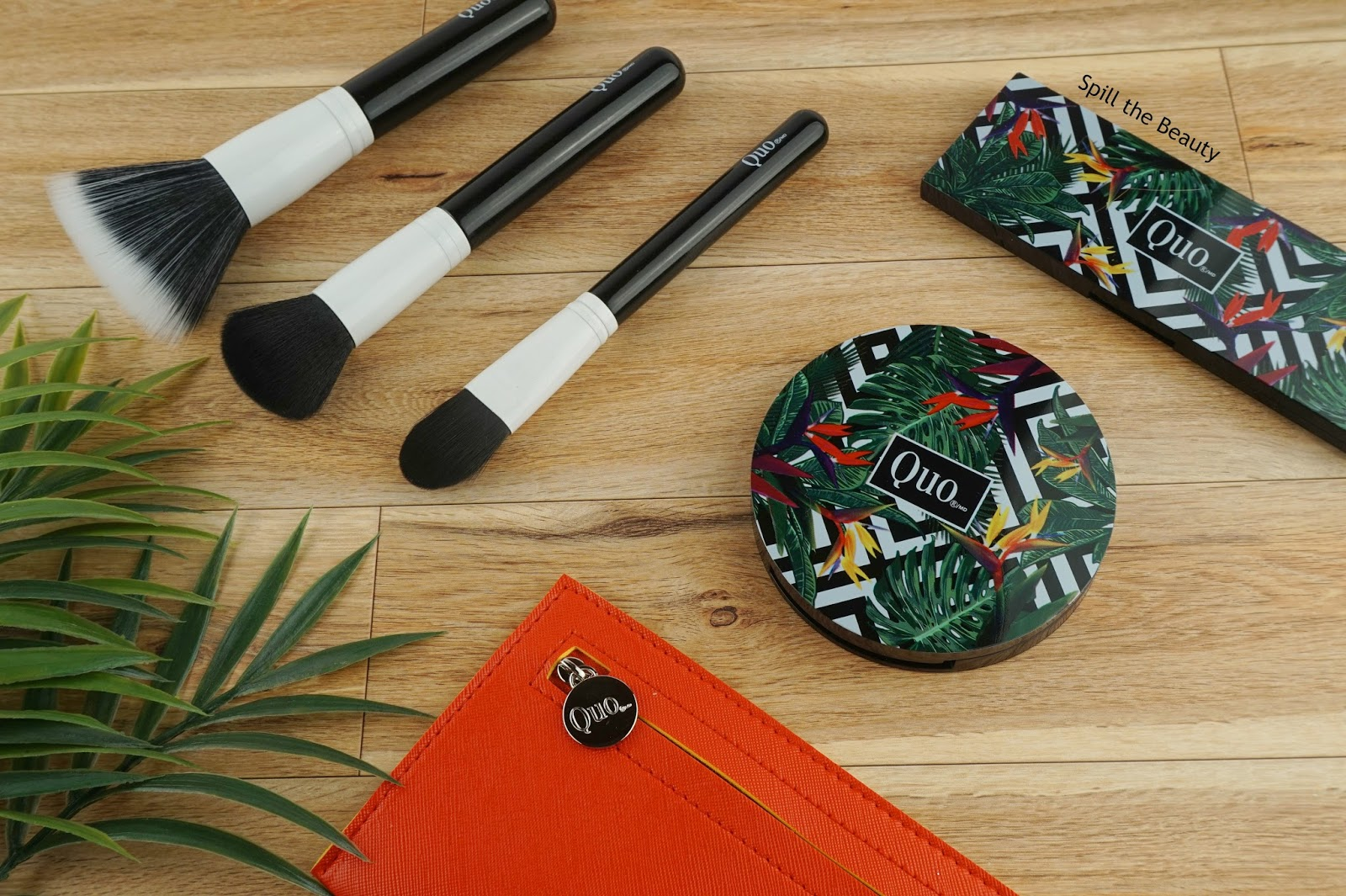 quo summer 2017 brush set bronzer eyeshadow sunset eyes swatches review
