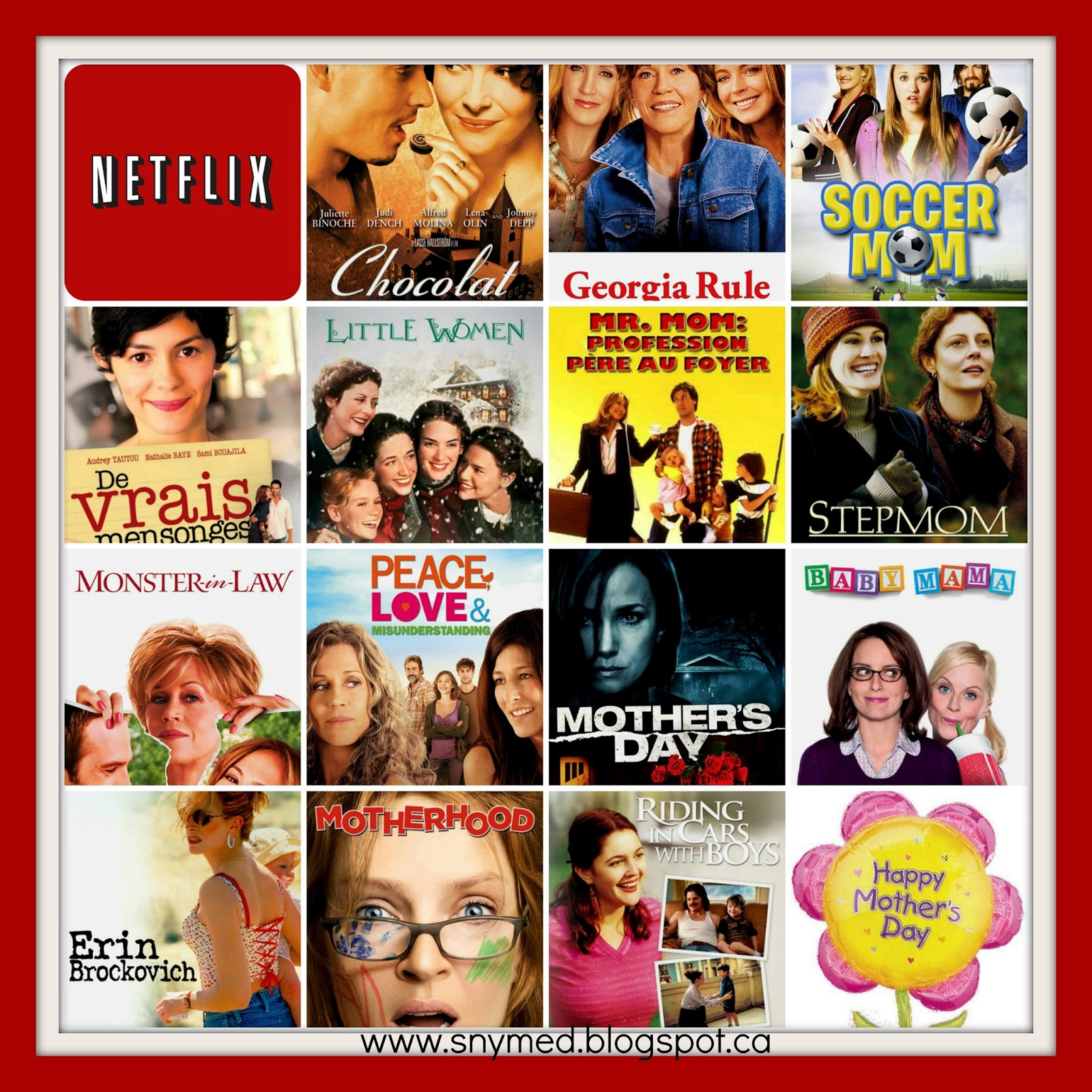 snymed: Give Your Mom Netflix for Mother's Day & NEW Contest