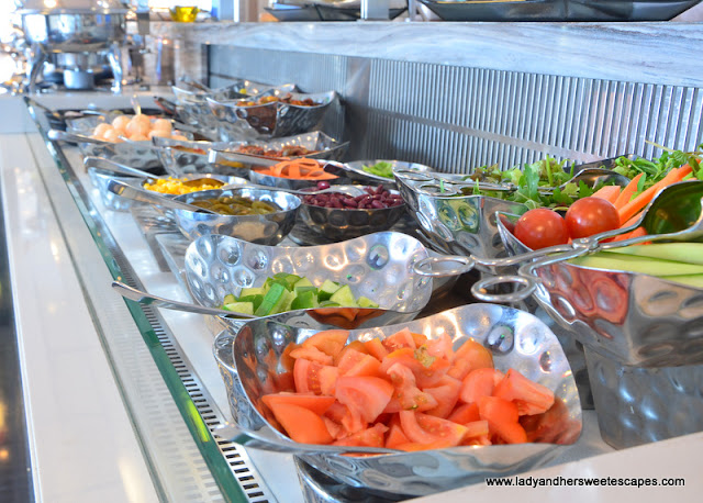 salad bar at Capital Centre Arjaan by Rotana