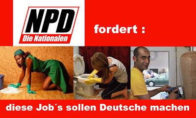 NPD-Plakate lustig