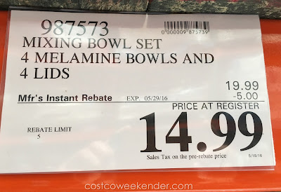 Deal for the 4-Piece Melamine Bowl Set at Costco