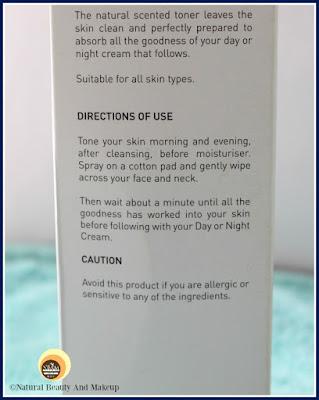 Atlantis Skincare Glowing Skin Toner Directions of Use on NBAM blog